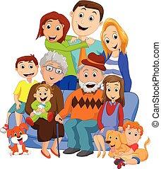 nagy, család, nagyszülők