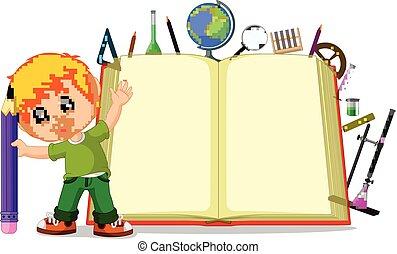 nagy, gyerekek, könyv