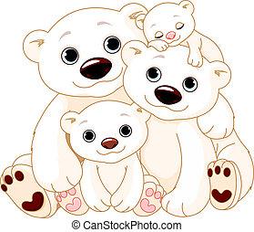 nagy, jegesmedve, család