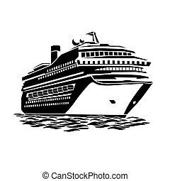nagy, személyszállító hajó, cirkálás