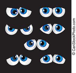 nagy szem, karikatúra