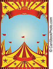 nagy tető, cirkusz, ég