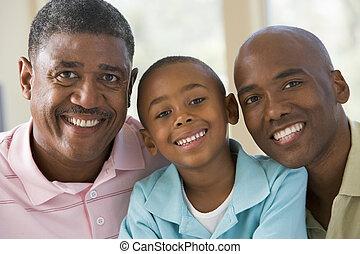 nagyapa, felnőtt, unoka, fiú