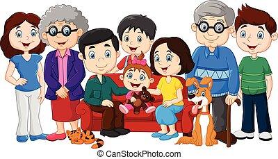 nagyszülők, nagy, család
