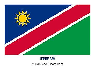 namíbia, fehér, flag., háttér., ábra, nemzeti, vektor, lobogó