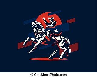 napóleon, horseback.