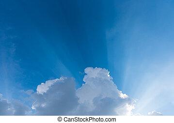 nap, ég, fénysugár