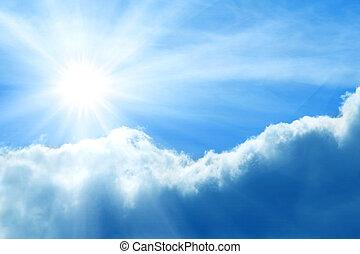nap, ég, felhős, viharos