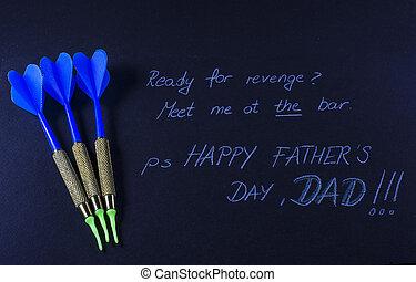nap, üzenet, black háttér, apák