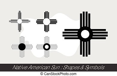 nap, bennszülött, jelkép, amerikai