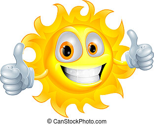 nap, betű, karikatúra, ember