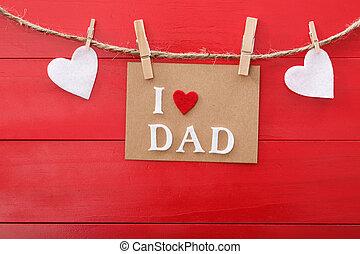 nap, bizottság, üzenet, felett, fából való, apák, piros