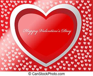 nap, boldog, kártya, piros, vektor, valentine's, effects.