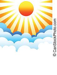 nap, elhomályosul, felül, felkelés