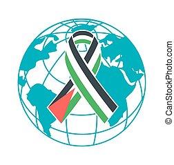 nap, emberek, palesztin, szolidaritás, ikon, nemzetközi