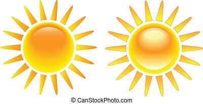 nap, fényes, állhatatos, égető