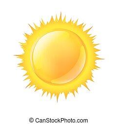 nap, fehér, vektor, ábra