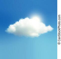 nap, felhő, ég