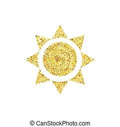 nap, háromszög, arany