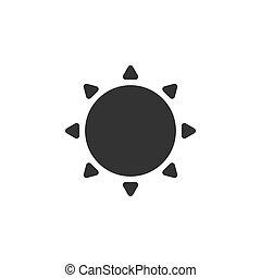 nap, időjárás, ikon
