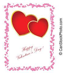 nap, konzerv, szöveg, card., -e, cserél, egyszerű, valentine's, ön, design.