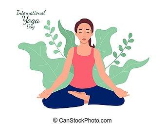 nap, nemzetközi, jóga