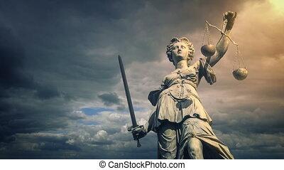 nap, parázslás, igazságosság, szobor