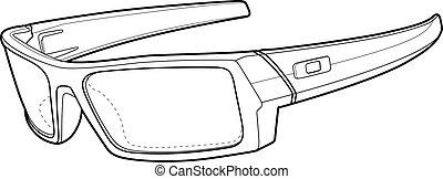 nap, sport, áttekintés, szemüveg