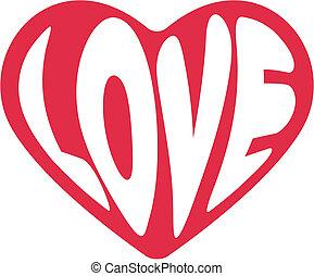 nap, szív, dekoratív, vektor, valentines