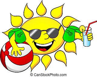 nap, szünidő, nyár
