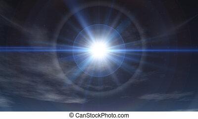 nap, tiszta égbolt, fénysugár