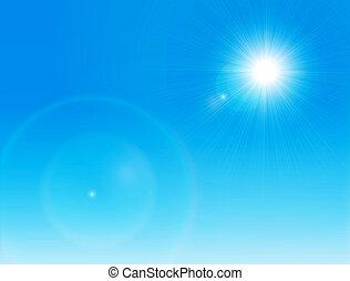 nap, tiszta égbolt