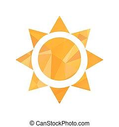 nap, vektor, háromszög