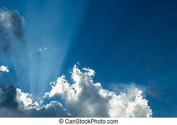 nap, világos ég, fény