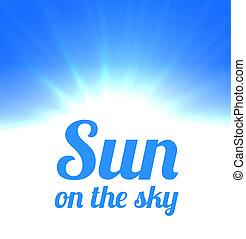 nap, világos ég
