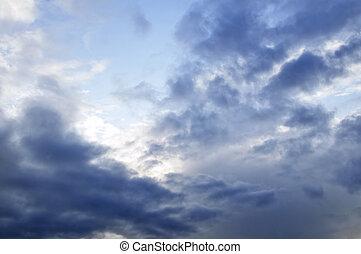 napfény, ég, viharos