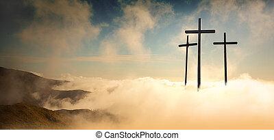 napkelte, keresztre feszítés, jesus christ