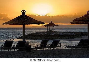 naplemente tengerpart, bali