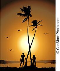naplemente tengerpart