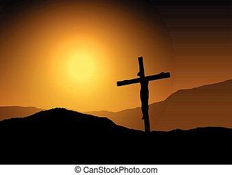 napnyugta, kereszt, 1203, jézus