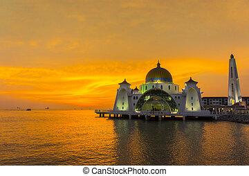 napnyugta, nagy mecset, úszó