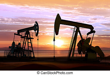 napnyugta, olaj pumpa