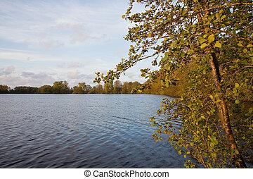 napnyugta, tó