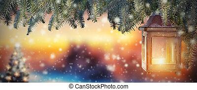 napnyugta, világító, christmas csillogó