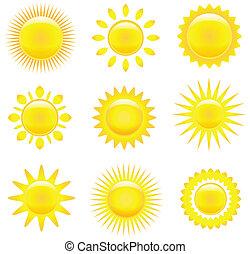napok, állhatatos, csillogó