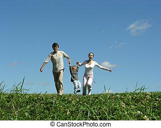 napos, futás, család nap