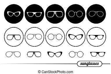 napszemüveg, ikonok