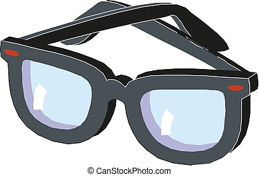 napszemüveg, jelkép, aláír, vektor, tervezés, ikon