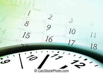 naptár, óra arc