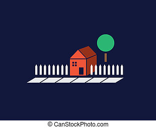 narancs, épület, minimális